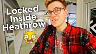 I GOT LOCKED ALONE IN AN AIRPORT GATE FOR 30 MINUTES