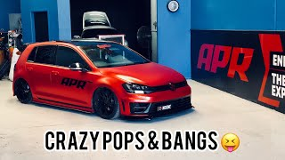 VW GOLF R - Loud APR pops and bangs & APR RS3