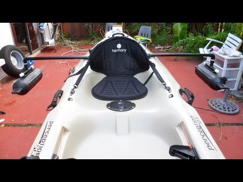 DIY - Homemade Kayak Stabilizers/ Outriggers / Pontoons - part # 1 - HD # 16 - Daniel Pierlet