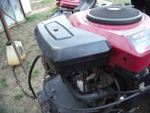 briggs 19.5 hp turbo cool opposed twin engine 42e707 1631-01 9612105B  Tag # 340E