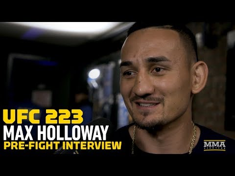UFC 223: Max Holloway Discusses Weight Cut, Ankle Injury, McGregor Rematch, Bruno Mars Well Wishes