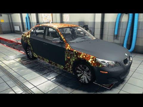 БИТАЯ BMW M5 Е60 С СВАЛКИ - НОВЫЙ ПРОЕКТ! ЧАСТЬ 1 l CAR MECHANIC SIMULATOR 2018