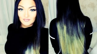 How to: Blend Short Hair with Ombre Hair Extensions Bellami deutsch german TUTORIAL