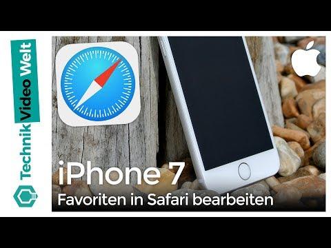 iPhone 7 Favoriten in Safari bearbeiten