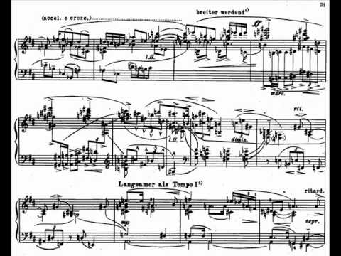 Glenn Gould plays Berg Sonata for Piano Op 1 (1/2)