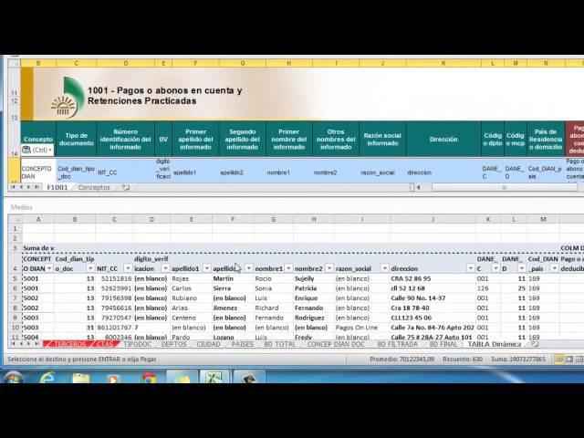 Medios Magnéticos en Excel