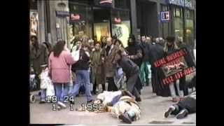 Demonstration against Fur Pelzdemo Hamburg 4.2.1995 Teil 1.wmv