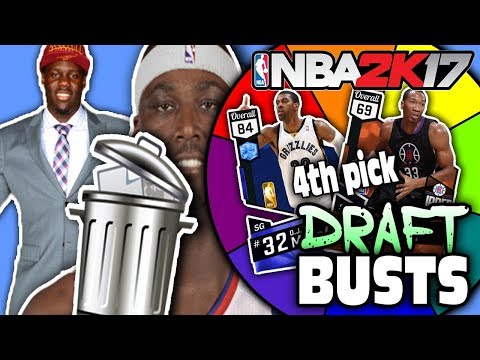 SPIN THE WHEEL OF DRAFT BUSTS! NBA 2K17 SQUAD BUILDER