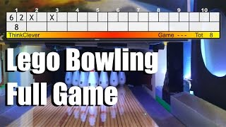 One game on Lego bowling lane! (With pinsetter action)