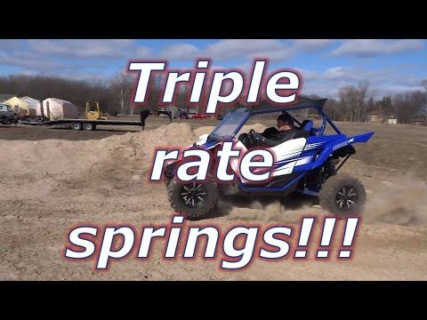 Yamaha YXZ TRIPLE RATE springs test drive!!