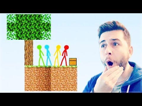 REACTING TO AMAZING ANIMATION Vs MINECRAFT!! - SKYBLOCK Vs STICKMAN Minecraft Animation