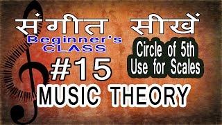 Basic Music Theory Lessons for Beginners in Hindi 15 Use of Circle of Fifth in Writing Scales
