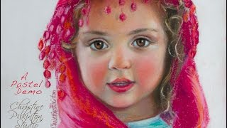 Pastel Portrait Class Demo Brileigh