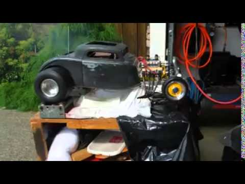 V8 Engine RC Drag car