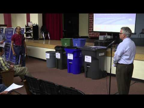 """Talk Trash"" Public Meeting, Strawberry Crest High School"