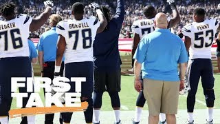 White NFL players show support for teammates protesting national anthem | First Take | ESPN