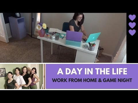 Day in the life: Working from home & game night! FT: Buffalo Chicken Dip Recipe!