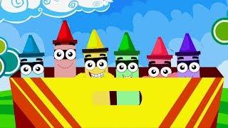 krayon warna lagu | nama warna dalam bahasa inggeris | pendidikan video | Crayons Colors Song
