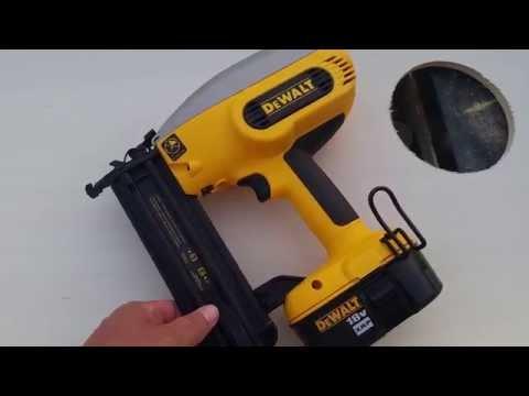 Dewalt 18 gauge cordless nailer review.