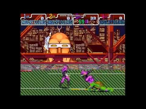 Teenage Mutant Ninja Turtles - Turtles in Time (4 Players ver UAA) - Teenage Mutant Ninja Turtles-Turtles in Time arcade [Donatello] - User video