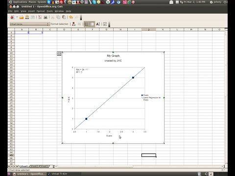 Creating a graph in Excel, Open Office, Spread Sheet, and TI83 Calculator - Linear Regression