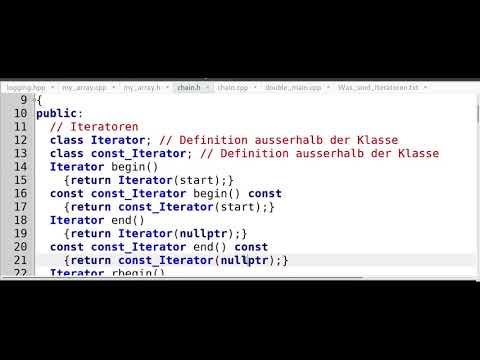 Iteratoren - Teil 2 - Entwurf eines Iterators für die eigenen Klassen