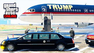 GTA 5 LSPDFR Online - President Escort With Mods (Donald Trump's Plane)