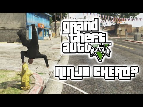 GTA 5 - CRAZY NINJA CHEAT STUNTS? - (GTA V - Funny Moments #7) - *NO SPOILERS* - Moon Gravity