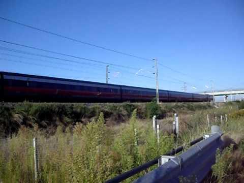 Eurostar Italia AV 9559 per Roma ripreso da un'altra prospettiva!!!