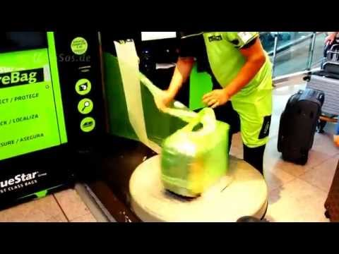 Foil Wrapping Machine for Bags at Airports