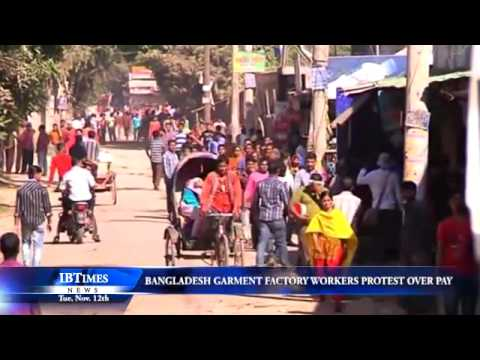 Bangladesh Garment Factory Workers Protest Over Pay