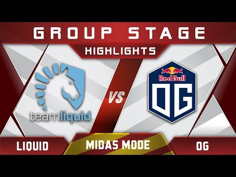 Liquid vs OG Midas Mode 2017 Highlights Dota 2