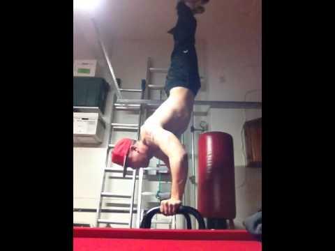 Handstand on Dip Bar Training