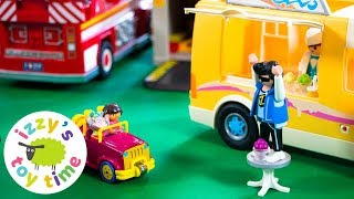 Cars for Kids | Dora the Explorer with Playmobil Ice Cream Truck | Fun Toy Cars for Kids!