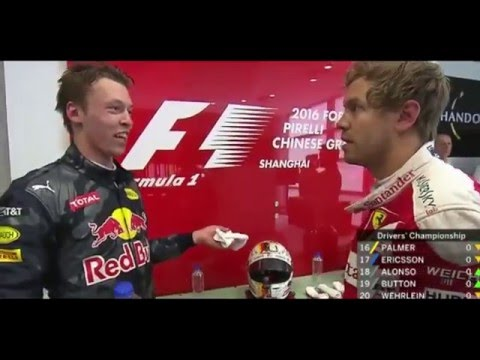Sebastian Vettel Vs. Daniil Kvyat Post Race Argument  - China 2016