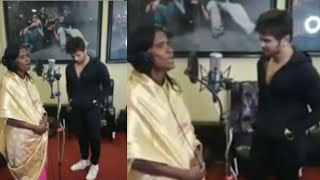 Full song recording by Ranu with Himesh.Teri meri kahani.Mumbai studio.