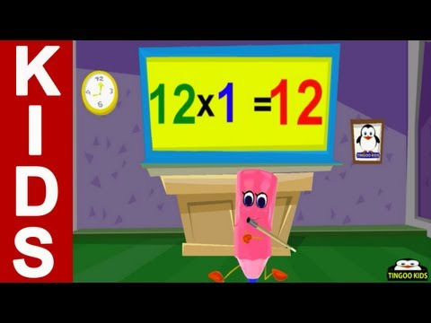 12 twelve times table song learning for kids for 12 times table song