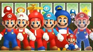 New Super Mario Bros Wii - All Giant Mario Power-Ups