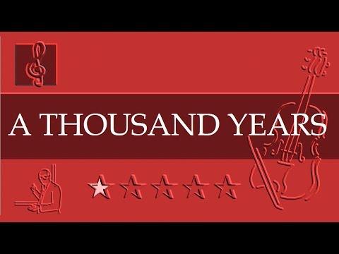 Violin Notes Tutorial  A Thousand Years  Christina Perri  Sheet music