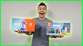 "Nintendo Switch ""FORTNITE"" Unboxing! (Double Helix Skin Bundle)"