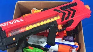 Box of Toys Toy Blasters for Children Toy Weapons Nerf Rival