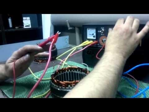 Видео как проверить статор на межвитковое замыкание мультиметром