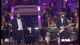 Luciano Pavarotti Video - Luciano Pavarotti & Eric Clapton - Holy mother Live Pavarotti and friends 2003