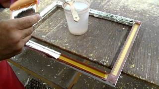 Water Gilding White Gold on Frame #D024