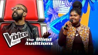 Amodya Nethmini | Tikki Tikiri Blind Auditions | The Voice Teens Sri Lanka