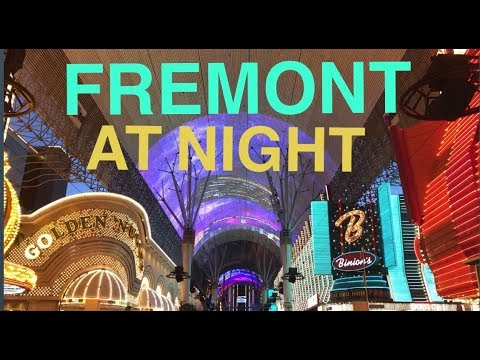 FREMONT LAS VEGAS AT NIGHT SUMMER 2019