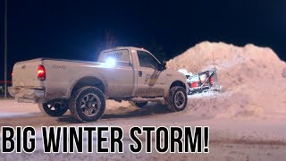 Biggest Snow Plowing Event This Season | F350 & Boss DXT Plow