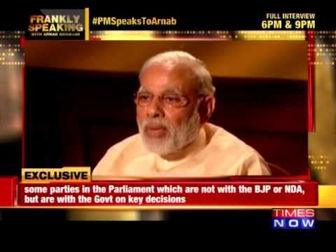 PM Modi Interview with Arnab Goswami | Modi on Parliament Logjam