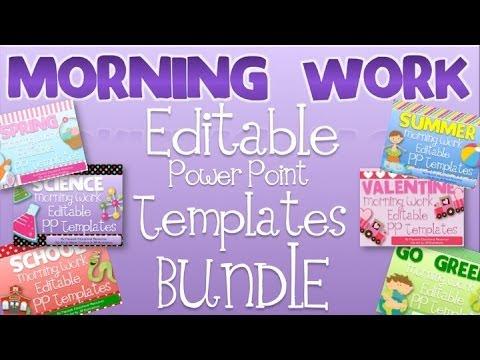 Morning Work Editable PowerPoint Templates