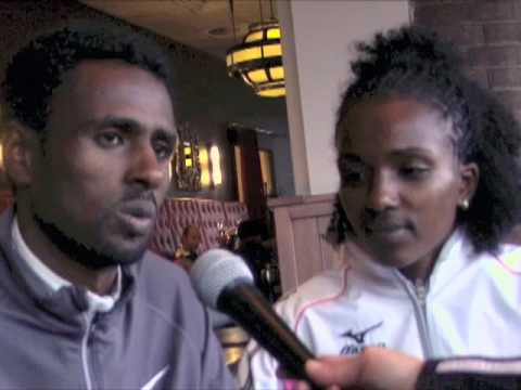 WR 15k:Race +interview Tirunesh Dibaba in Nijmegen